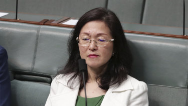 Liberal MP Gladys Liu in the House of Representatives on Wednesday.