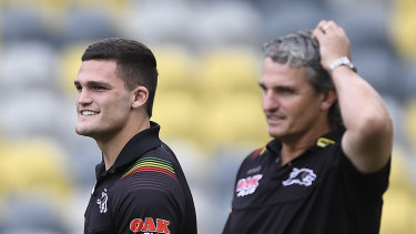 Nathan and Ivan Cleary ... The pair have juggled the tricky dynamics of son and father also being player and coach.