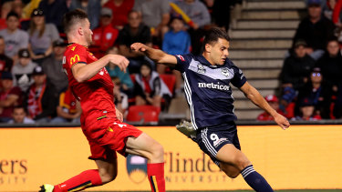 Melbourne Victory forward Andrew Nabbout failed to capitalise on several chances against Adelaide.