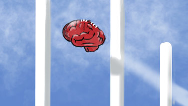 Footy: the school of head knocks.