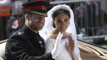 Prince Harry and Meghan after their wedding ceremony in May 2018.