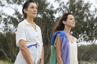 Harriet Walter (left) and Frances O'Connor in <i>The End</i>.