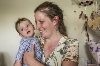 Lou Rytmeister, who didn't use her private health insurance when her third child, Ruby, was born at Gosford Hospital.