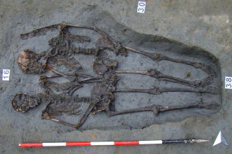"Two skeletons, known as the ""Lovers of Modena"" were buried holding hands in the same tomb."