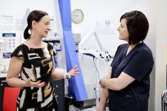 Queensland Health Minister Yvette D'Ath (left) is urging people to get tested for COVID-19, despite no recent local cases.