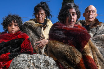 Ngurai Illum Wurrung and Waywurru elder Liz Thorpe - pictured with Thorn Smith and Thorn's children Shaniece and Jalina - was part of a Federal Court challenge to the Taungurung agreement.