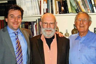 Neuroscientists Matthew Kiernan (left), Oliver Sacks and James Lance.