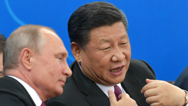 Russian President Vladimir Putin, left, and Chinese President Xi Jinping in China in June.