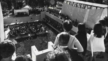 The official opening of Churchill House in Canberra in April 1972.