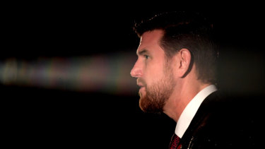 Ben Roberts-Smith speaks on Anzac Day, 2017 in Melbourne.