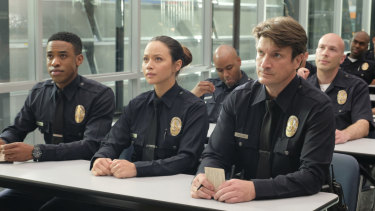 In the Pilot: Small-town guy John Nolan is pursuing his dream of being an LAPD officer.