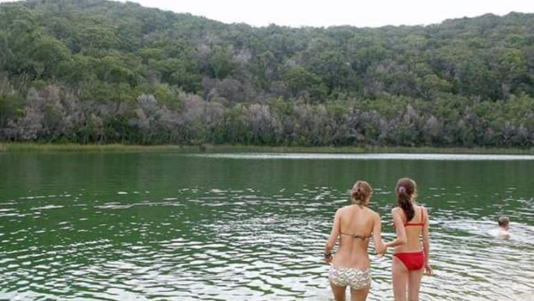 Lake Wabby on Fraser Island;  where conservationist John Sinclair says his ashes will be scattered when he dies.