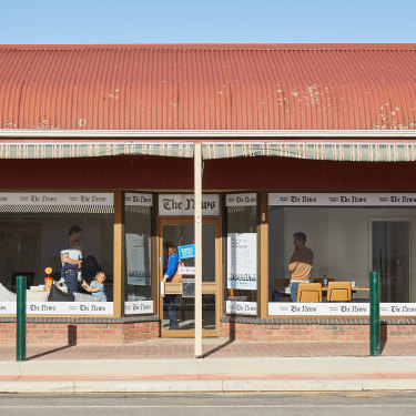 The News office in Naracoorte is  a small and plain but functional space.