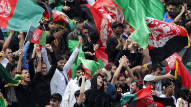 Afghanistan fans at the 2019 World Cup in England.