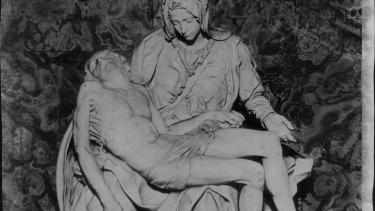 Michelangelo's Pieta in St Peter's Basilica.
