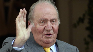 Under investigation: Spain's former monarch Juan Carlos in Santiago, Chile, in 2018.