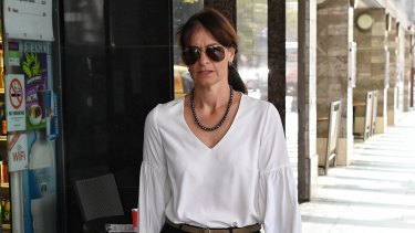 Sandra Sidoti, after giving evidence to the ICAC on Tuesday.