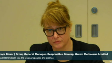 Crown's group general manager, or responsible gaming, Sonja Bauer.