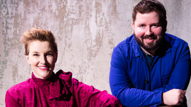 Playwright Kate Mulvany and Sydney Theatre Company artistic director Kip Williams.
