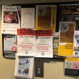 ABC message boards plastered with EBA-related posters.