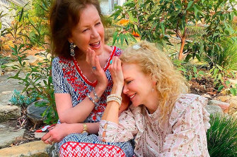 Nicole Kidman with her mother, Janelle.