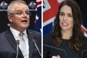 Scott Morrison and Jacinda Ardern will discuss a potential economic rescue package for Pacific Island nations, whose collective economies shrunk 11 per cent last year.