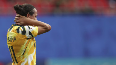Lisa de Vanna is under an injury cloud heading into the Matildas' second group game.