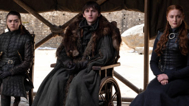 Brandon the Broken with his sisters Arya and Sansa.