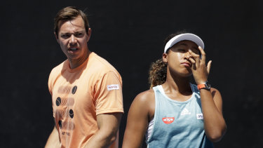 Separation: Naomi Osaka has decided to part ways with her coach just a fortnight after becoming world No.1.