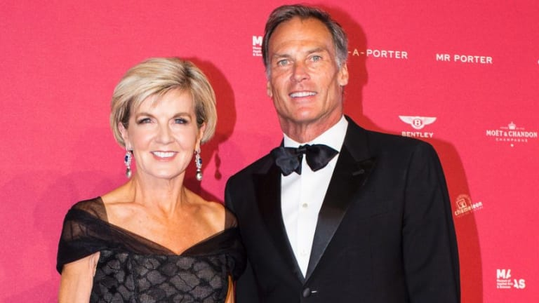 Foreign Minister Julie Bishop and David Patton attended the MAAS Fashion Ball last month. There is no suggestion the pair attended the after party.