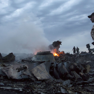 MH17 came down over eastern Ukraine after being shot down by a missile. Thirty-eight Australian citizens and residents were on board.