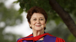 Former senator, education minister, and Age Discrimination Commissioner Susan Ryan after being awarded an honorary doctorate by ANU, December, 2017. on