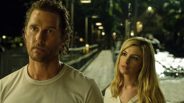 """Matthew McConaughey and Anne Hathaway in a scene from """"Serenity."""""""