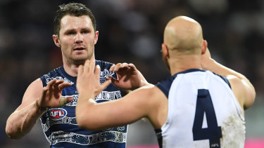 Ready to go: Geelong stars Patrick Dangerfield and Gary Ablett.