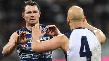 Geelong stars Patrick Dangerfield and Gary Ablett have been on fire all season for the Cats.