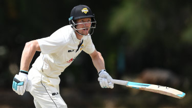 Fine start: Cameron Bancroft's move up the order paid immediate dividends.