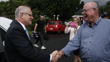 Prime Minister Scott Morrison and Queensland Liberal MP Warren Entsch.