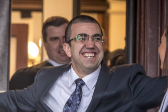 Faruk Orman walking free from the Supreme Court in July.