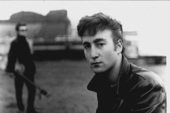 Astrid Kirchherr's picture of a young John Lennon in Hamburg in 1960.