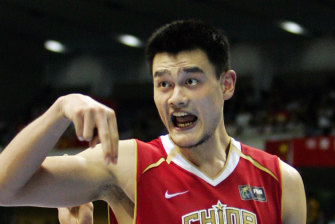 China's Yao Ming during his time at the Houston Rockets.