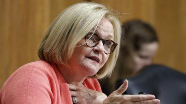Senator Claire McCaskill in Washington.