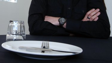 John Davis had finished eating when he choked.
