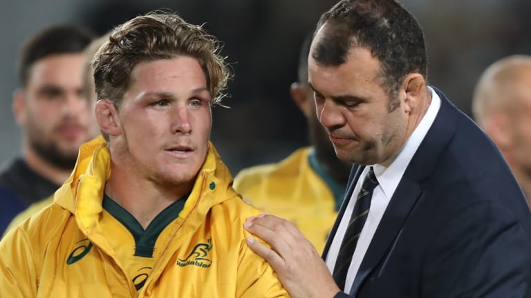 Commiserations: Michael Cheika says turnovers hurt Australia, but their other facets of play were of a good standard.