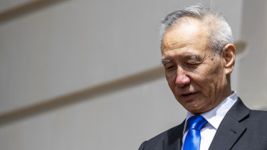 China's Vice-Premier Liu He departs the Office of the US Trade Representative without a deal last week.