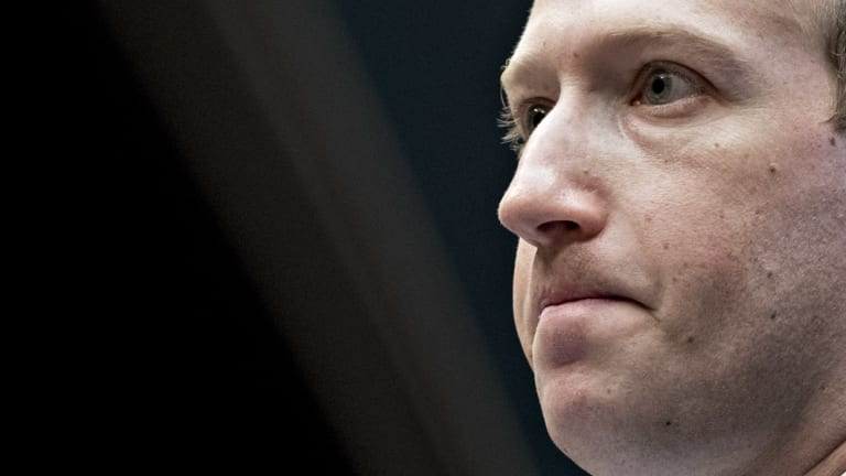 Mark Zuckerberg, chief executive officer and founder of Facebook, listens during testimony in Washington this month.