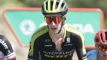 In the hunt: Aussie cyclist Simon Yates.