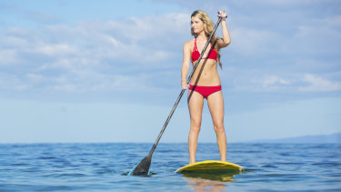 Stand-up paddleboarding was a relaxing pastime when given the opportunity to explore Bali.