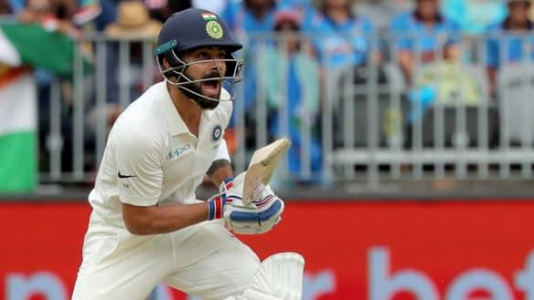 Australia v India live: Australia take early wickets but Kohli fights back