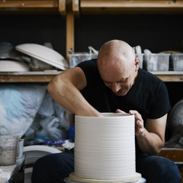 """I just love making, and anything that pulls me back into the computer world is not attractive to me any more,"" says potter Colin Hopkins."