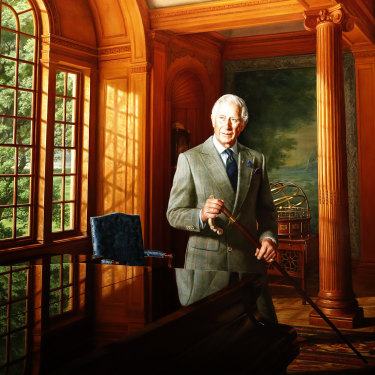 A portrait of Prince Charles, by Australian-born artist Ralph Heimans, hangs at Australia House in London.